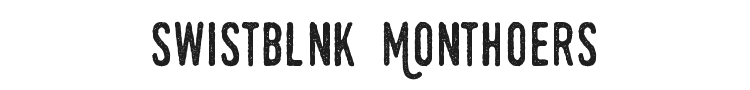 Swistblnk Monthoers Font Preview