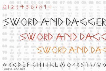 Sword and Dagger Font