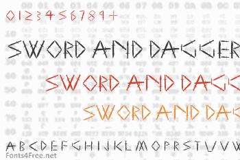 Sword and Dagger Font