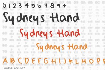 Sydneys Hand Font