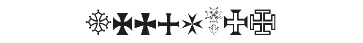 Symbol Crucifix Font Preview