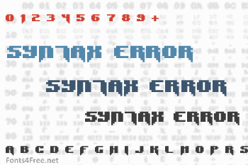 Syntax Error / Syntax Terror Font