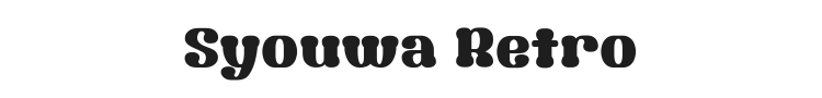 Syouwa Retro Pop Font