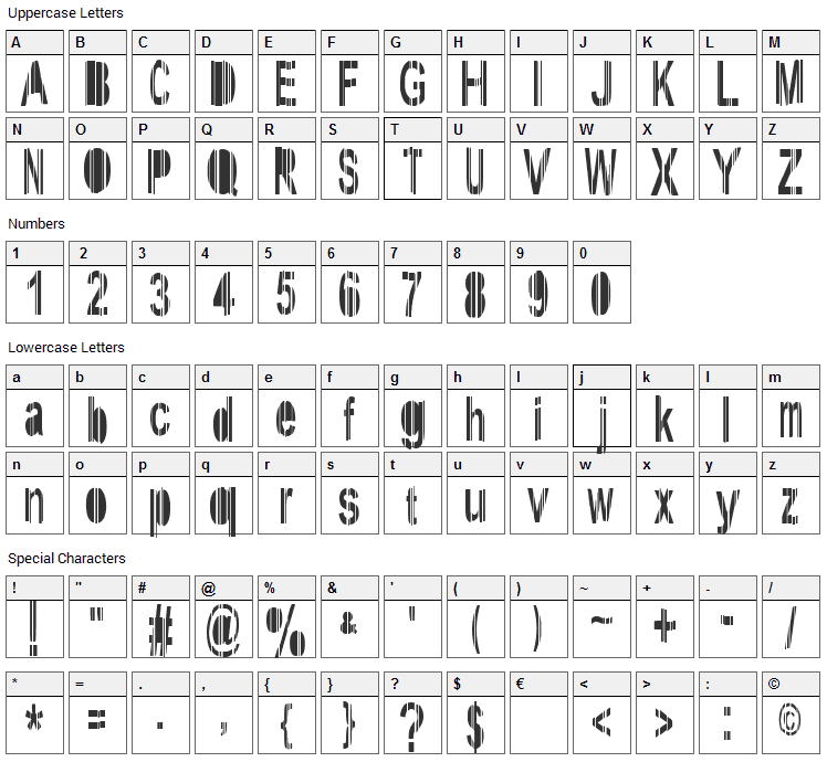 System Font Character Map