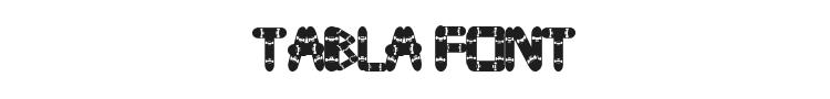 Tabla Font Preview