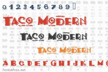 Taco Modern Font