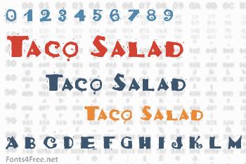 Taco Salad Font