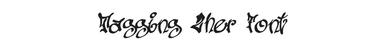 Tagging Zher Font Preview