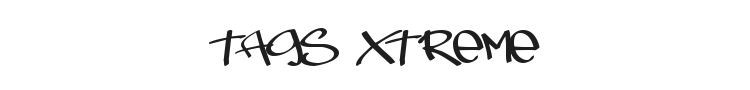 Tags Xtreme Font Preview