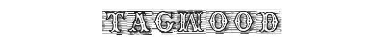TagWood Font
