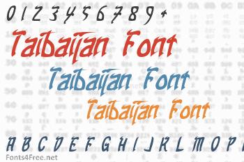Taibaijan Font