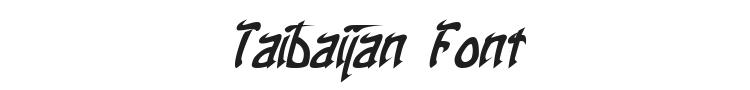 Taibaijan Font Preview