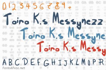 Taira K.s Messynezz Font