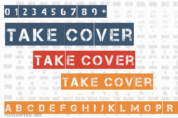 Take Cover Font