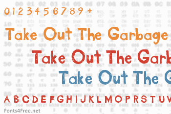 Take Out The Garbage Font