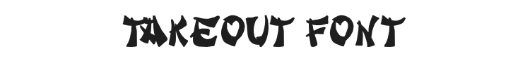Takeout Font Preview