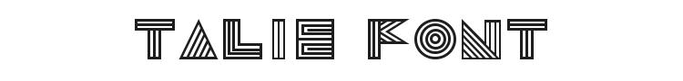Talie Font