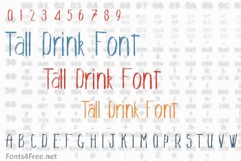 Tall Drink Font