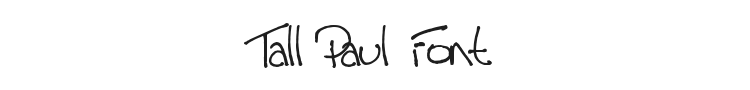 Tall Paul Font Preview