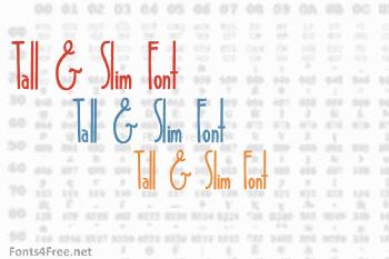 Tall & Slim Font
