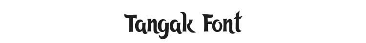 Tangak Font Preview