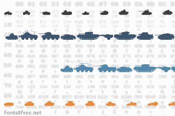 Tanks WW2 Font