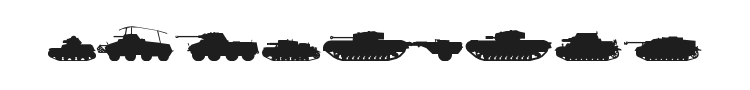Tanks WW2 Font Preview