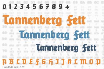 Tannenberg Fett Font