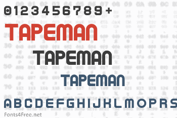 Tapeman Font