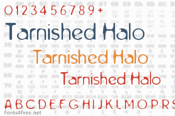 Tarnished Halo Font