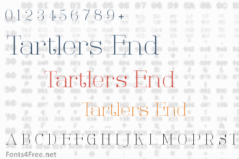 Tartlers End Font
