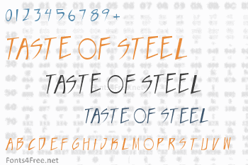 Taste of steel Font