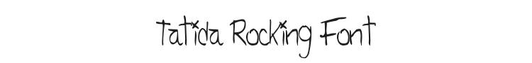 Tatida Rocking Font Preview