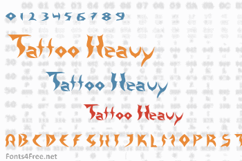 Tattoo Heavy Font