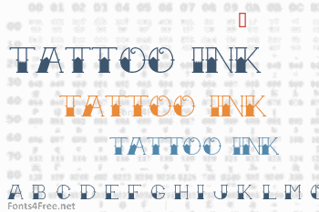 Tattoo Ink Font