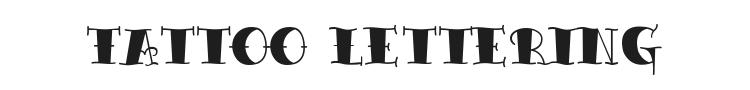 Tattoo Lettering Font