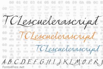 TCLescuelerascript Font