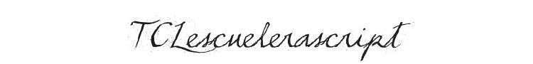 TCLescuelerascript Font Preview