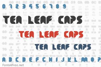 Tea Leaf Caps Font
