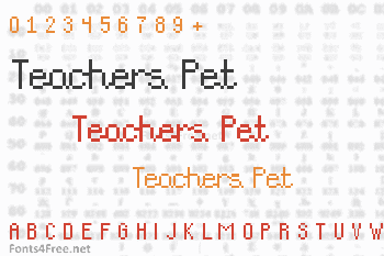 Teachers Pet Font