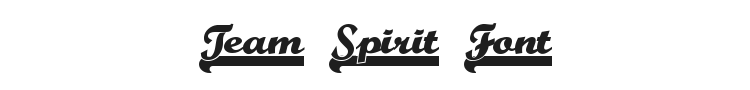 Team Spirit Font Preview