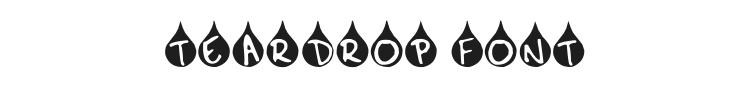 Teardrop Font Preview