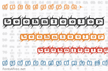 Technicolor Font