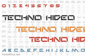 Techno Hideo Font