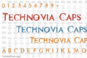 Technovia Caps Font