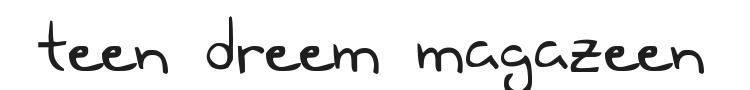 Teen Dreem Magazeen Font Preview