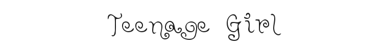 Teenage Girl Font Preview