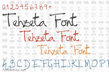 Tehzeta Font
