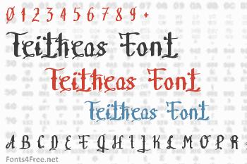 Teitheas Font
