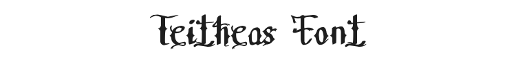 Teitheas Font Preview